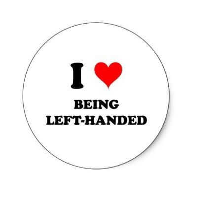 Lady Gaga, Marilyn Monroe, Angelina Jolie - 10% of the world population is left handed and the 13th of August is annual left handed day. I love being left handed!