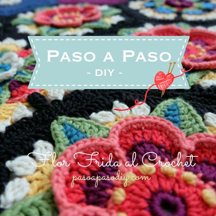 Cómo hacer una flor frida a Crochet paso a paso