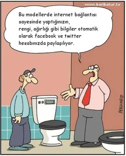 Teknolojik Tuvalet, karikatür