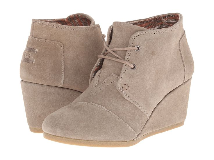 TOMS Suede Desert Wedge Women | Taupe (10006257)