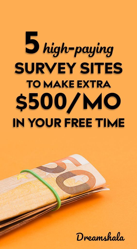 5 high-paying survey sites to make extra $500 per month in your free