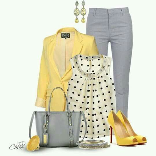 Amarillo para un look alegre
