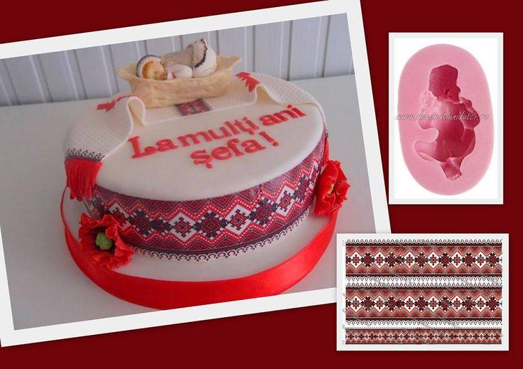 "Un tortulet de la Dana""s cakes pentru colectia de torturi cu motive populare. #mulajsiliconalimentar bebelus https://decoratiunidulci.ro/corpuri-umane-si-bebelusi #imprimaripecolicomestibile #motivepopulare https://decoratiunidulci.ro/folcloric  SURSA: https://www.facebook.com/maftei.daniela.3"