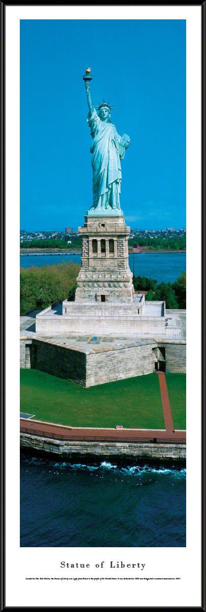 Statue Of Liberty Panoramic Picture Framed