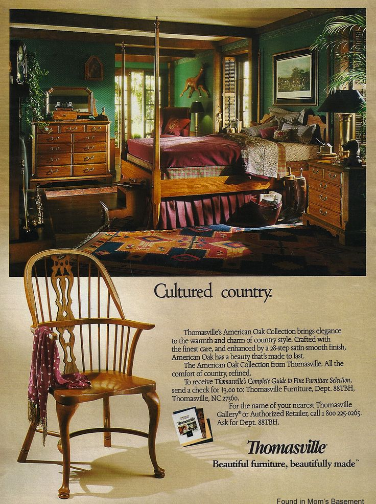 1988 Ad For Thomasville Furniture