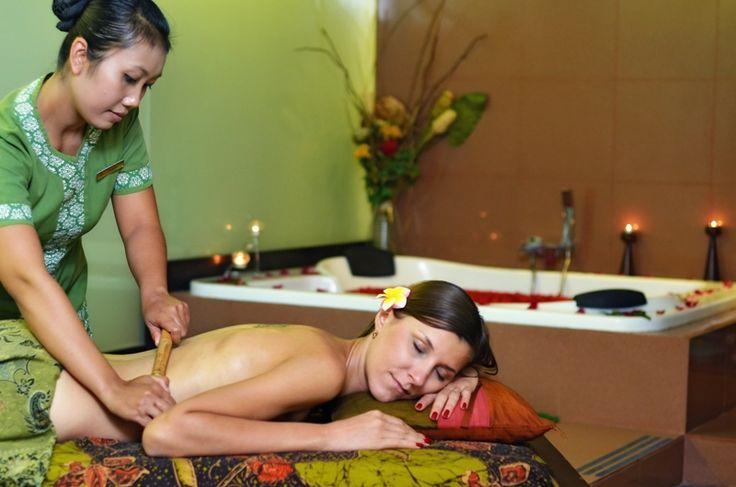 Bamboo treatment SPA at Kuta Paradiso Hotel Bali