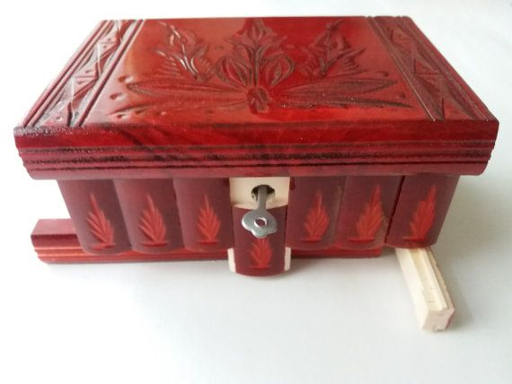 New special editon red wooden puzzle box jewelry box,Magic Box,mystery box,secret box,tricky box,carved wooden box,perfect gift,wooden toy