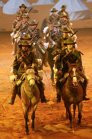 Light horsemen feature in the Australian Outback Spectacular's new show.