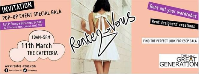 Rentez-Vous was founded by ESCP Europe: Master in Marketing & Creativity graduate Fiona Disegni. The company allows you to refresh your wardrobe by hiring an outfit for special events