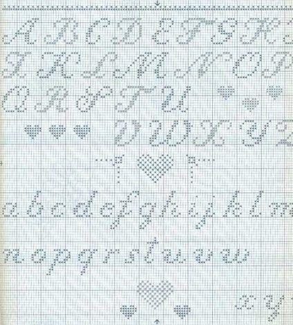 Como bordar letras a mano