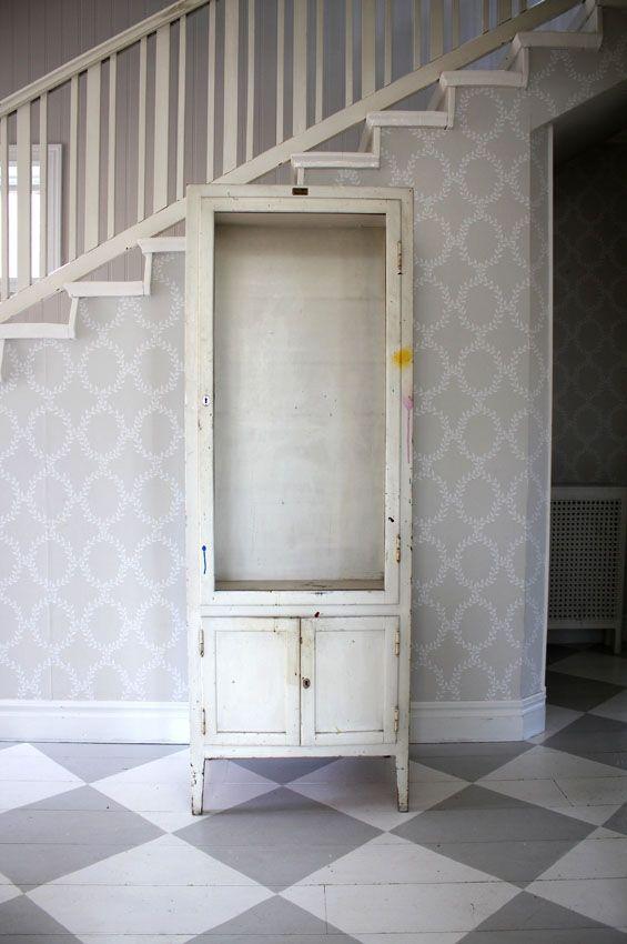 Old medical cabinet from Dalaro, Sweden