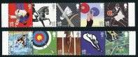2012 Summer Olympics & Paralympics Two Mint Strips of 5 Great Britain, 2009-2010