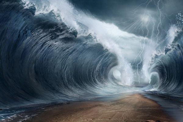 """Największe tsunami w historii. """"Góry się trzęsły, lodowiec wyleciał w powietrze"""". Magnituda 8,3, 30 milionów metrów sześciennych kamieni i lodu w wąskim przesmyku Lituya Bay na Alasce oraz fala o wyskości od 20 do 30 metrow, osiągnęła 524 metry wysokości przed rozpryśnięciem. (9.07.1958 r.) http://pl.wikipedia.org/wiki/Lituya_Bay http://www.drgeorgepc.com/Tsunami1958LituyaB.html"""