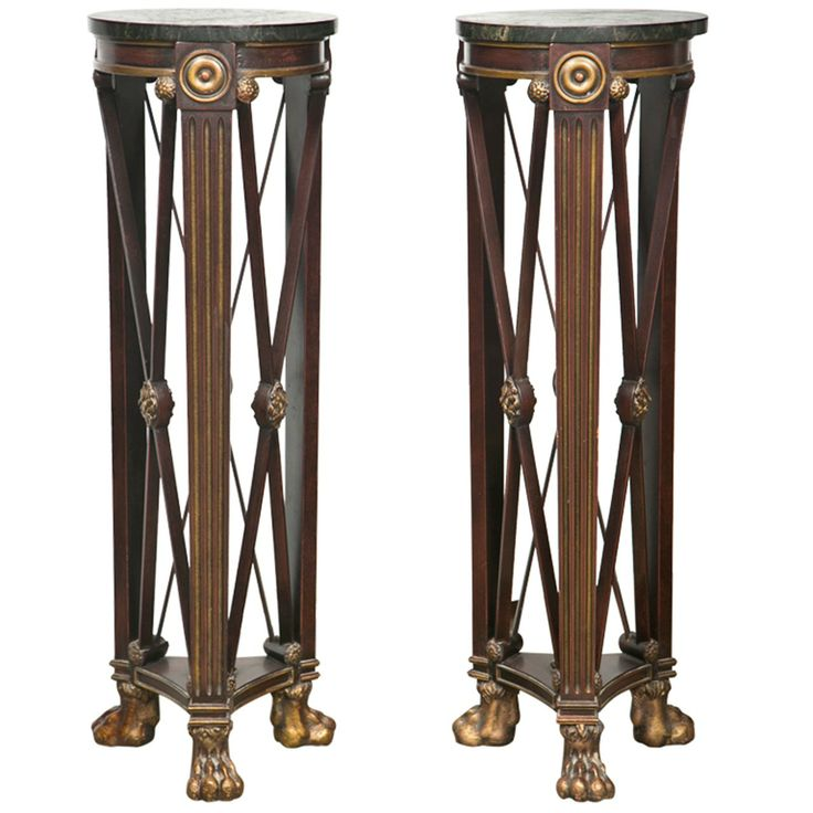 French Empire Style Pedestals