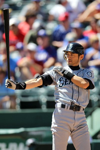 Ichiro - RF - Seattle Mariners  Oh yea! This pose is etched forever in my mind & heart.