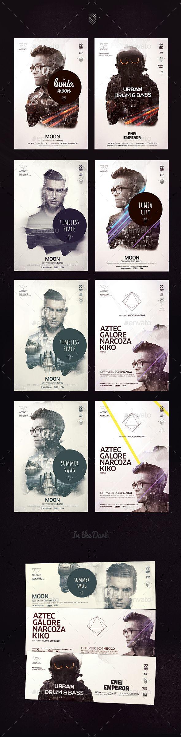 Double Exposure Bundle Posters Template PSD #design Download: http://graphicriver.net/item/double-exposure-bundle-posters/13198533?ref=ksioks