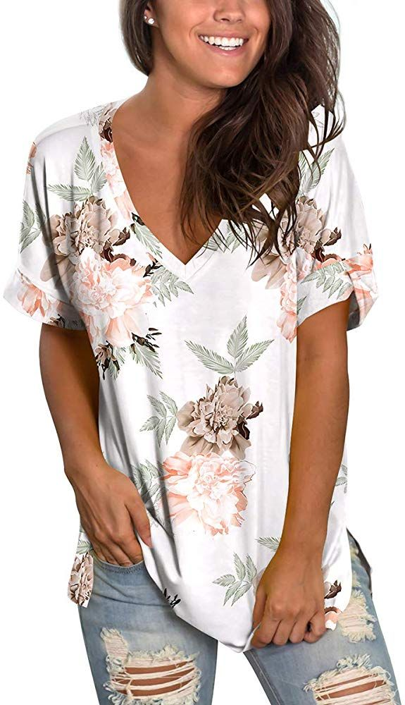 womens xl tunics in oversize flowers  XL size