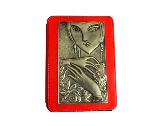 Kindle Fire HD Case Lady Face Various Colours by Loutul on Etsy, £35.00