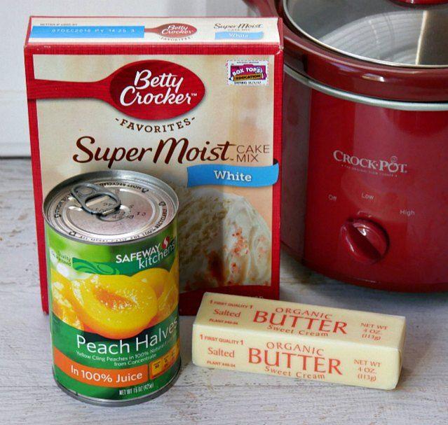 Slow Cooker Peach Cobbler | Growing Up Gabel