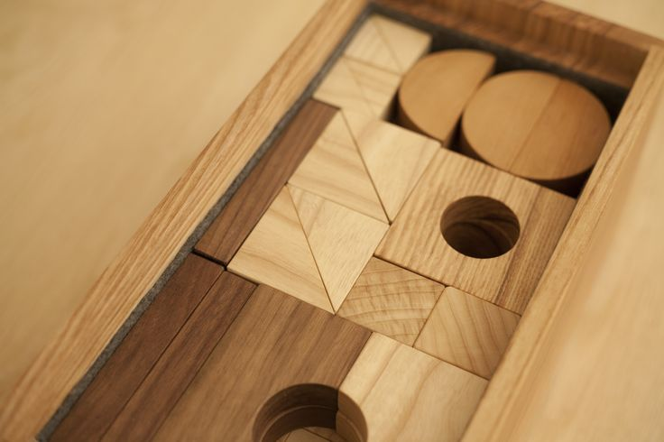 Detail of Peggy's Building Blocks large set.  Solid wood and made in Toronto.