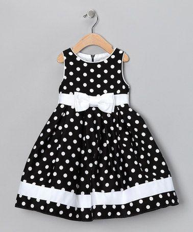 Black & White Dotty Dress - Infant, Toddler & Girls by Spring Soirée: Girls' Dresses on #zulily today!