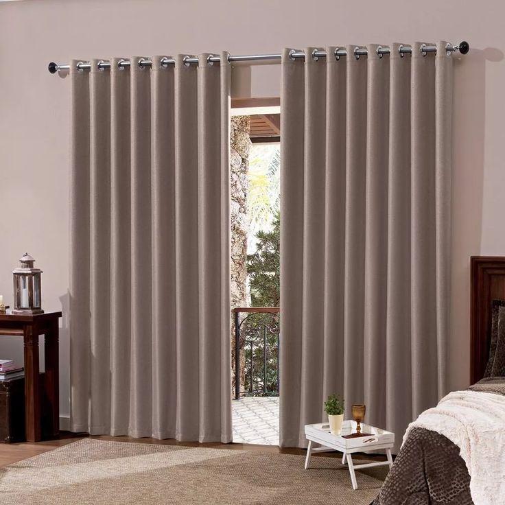 cortina blackout em tecido 2,00x1,80 corta luz quarto e sala