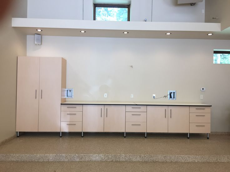 Garage cabinets by Monkey Bar Storage come in many colors and layout  options. With industry exceeding strength, your shelves