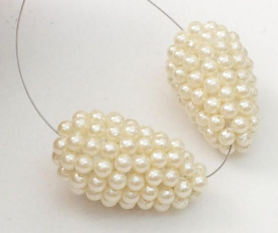 Pearl Drops 2 Pcs Matched Pair Earrings Fancy Pearl Beads
