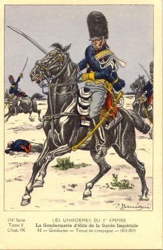 French; Imperial Guard, Gendarmes d'Elite, Gendarme, Tenue de Campagne, 1812-14
