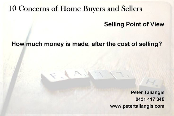 10 Concerns Of Home Buyers & Sellers