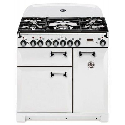 36 inch Pro-Style Dual Fuel Range with 2.2 cu. ft. Convection Oven, 1.8 cu. ft. 7-Mode Multifunction Oven, Broiling Oven, Manual Clean and Plate Warming Rack: Vintage White