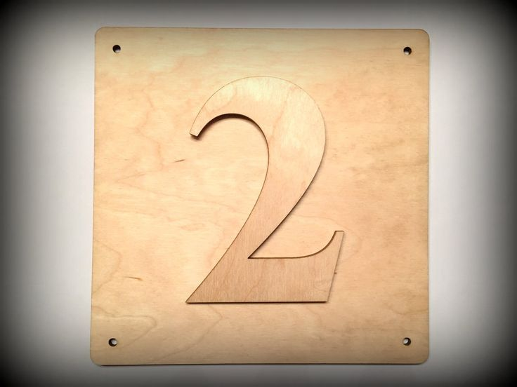 Wooden DIY-set, house numbers with basis plate, 150mm high by FECOsCreations on Etsy