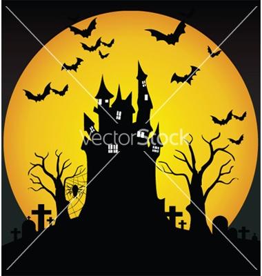 mural halloween scene
