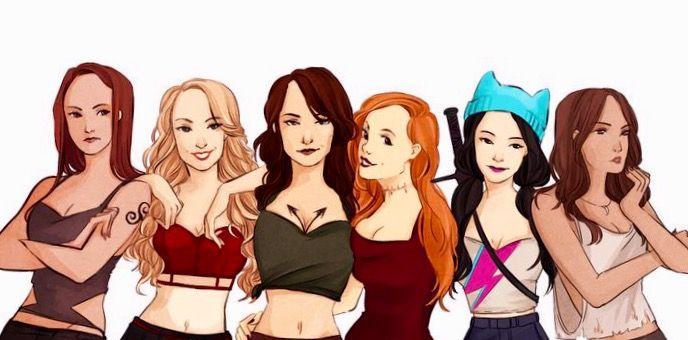Cora Hale, Erica Reyes, Allison Argent, Lydia Martin Kira Yukimara, Malia Tate - The girls of