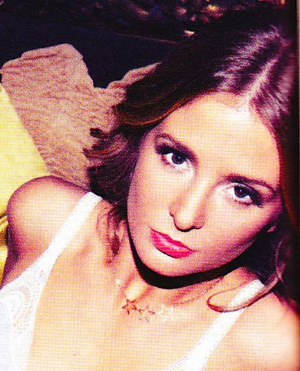 Millie Mackintosh wearing my vintage star necklace in FHM