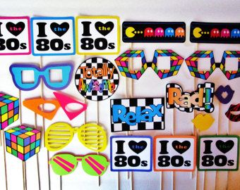 22 Piece I Love the 90s Photobooth Props Photo by SweetLolliProps