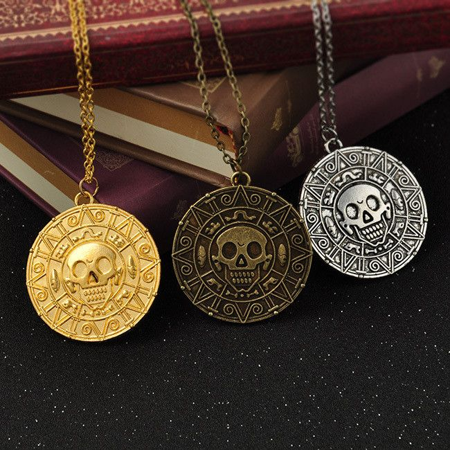 Pirates of the Caribbean Aztec Skull Pendant Necklace. Just pay $0.50 plus shipping. Limited quantities available.