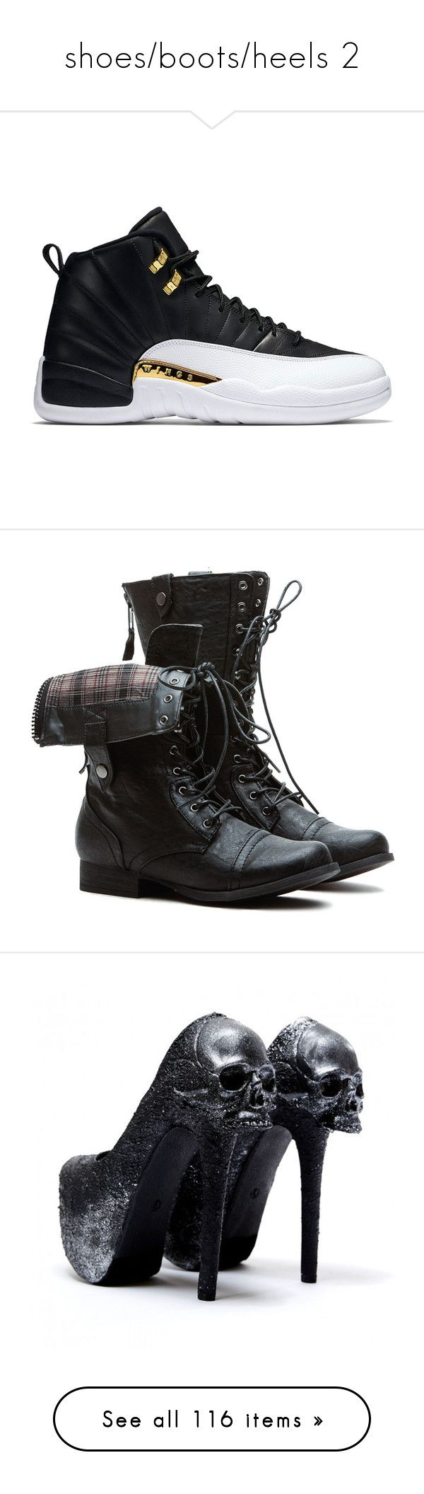 """""""shoes/boots/heels 2"""" by zoesears on Polyvore featuring shoes, sneakers, jordans, boots, footwear, combat boots, black military boots, black army boots, army boots and mid-calf boots"""