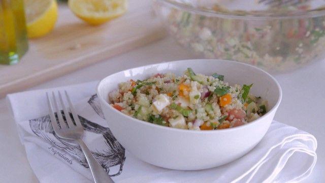 Taboulé de quinoa http://cuisinefuteeparentspresses.telequebec.tv/recettes/205/taboule-de-quinoa