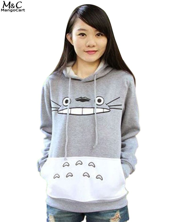Hot 3D thick sweatshirt harajuku cartoon totoro animal print Women Sporting Suit Hoodie Spring Autumn Outside clothes 63 #Affiliate