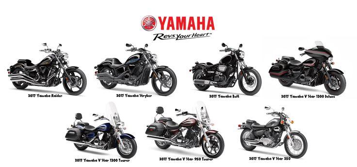 2017 Yamaha Cruiser/Touring Line-Up.    http://yamahamotorsports.com/street-motorcycle/models/lineup/2017/street-motorcycle