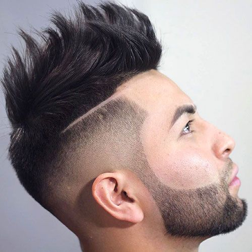 High Skin Fade with Part and Textured Spiky Hair