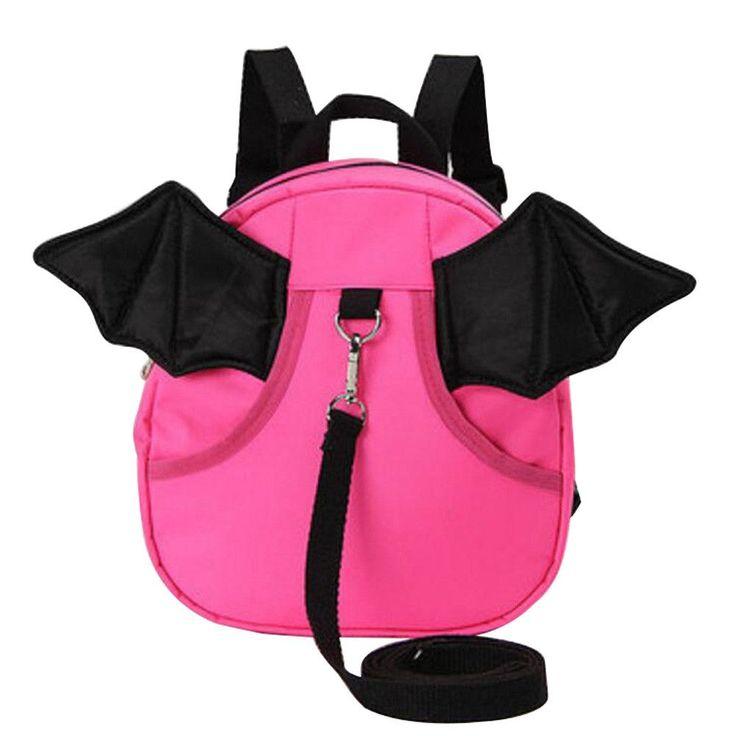 Anti-lost Kindergarten Backpack Cute Shoulder Bag Children School Bag-Rose Red