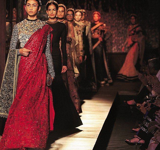 Old school inspired by Royalty: Manav Gangwani's collection included modern as well as traditional ensembles.