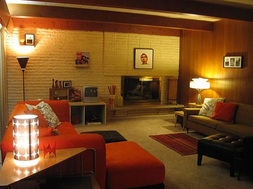 32 best my 70 39 s den images on pinterest 1970s canapes for Retro basement ideas