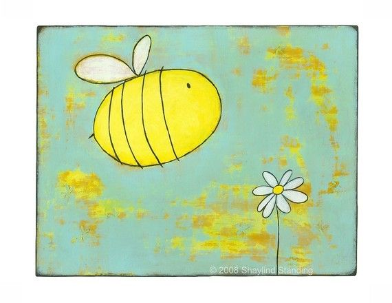 Big Bee 5x7 Print by ConstantDreamer on Etsy
