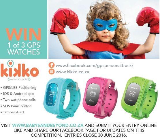 WIN 1 of 3 GPS Watches from KIKKO