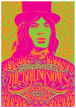 self portraits as poster art or magazine covers -- use with language arts unit and include student writing -- (good for typography and graphic design using digital media) -- ROLLING STONES  26 November 1969 Baltimora   concert by tarlotoys