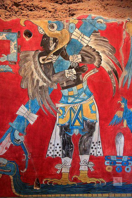Caballero Aguila que viaja a la otra dimensión en la serpiente emplumada