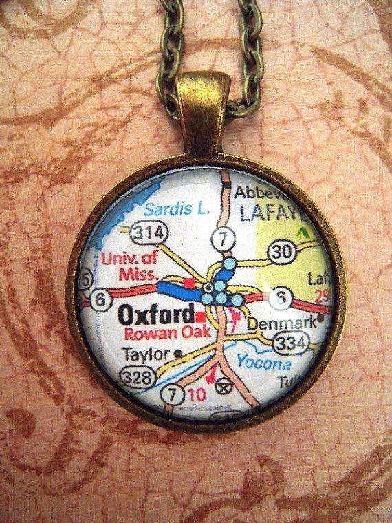 Vintage Oxford University of Mississippi Map by SterlingQuest